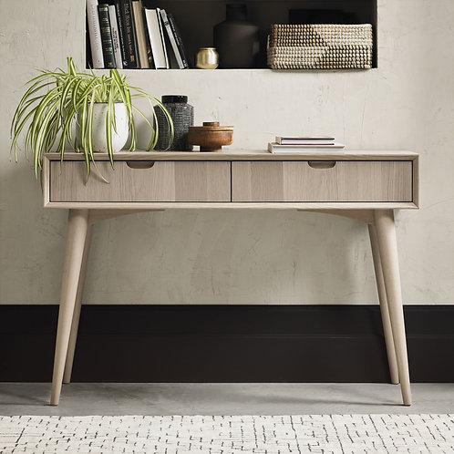 Dansk Scandi Oak Console Table With Drawer