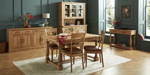 Westbury Rustic Oak 4-6 Extension Table