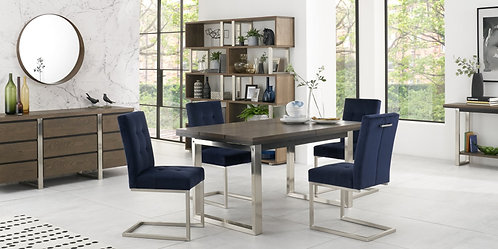 Tivoli Dark Oak 4-6 Extending Dining Table