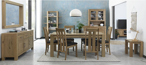 Turin Light Oak Small Extending Dining Set with 4 Chairs