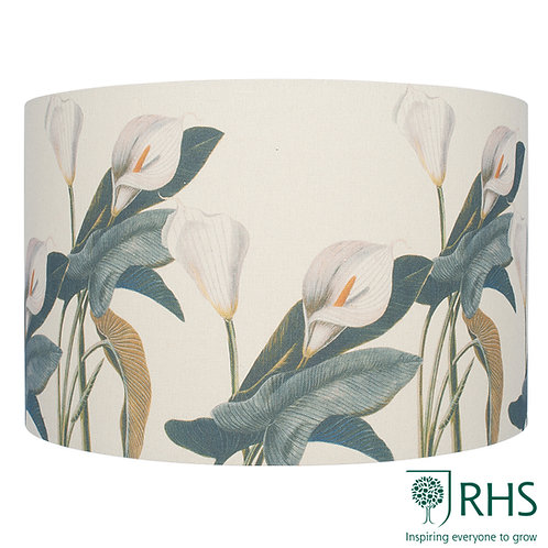 35cm Jenny Worrall Arum Lily Linen Cylinder Shade