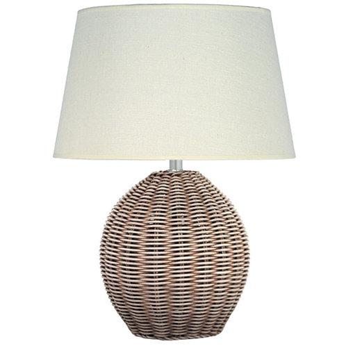 Rattan Cream Wash Table Lamp pacific lifestyle sand cornwall
