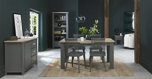 Oakham Dark Grey Spindle Chairs