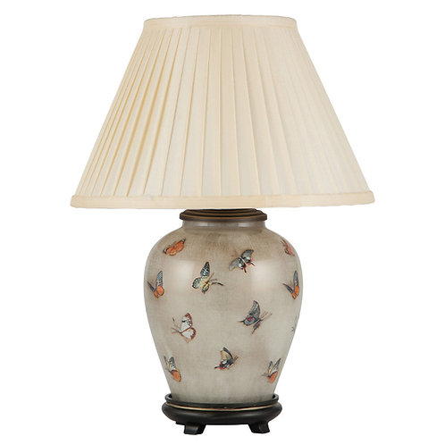 Butterflies Small Glass Table Lamp