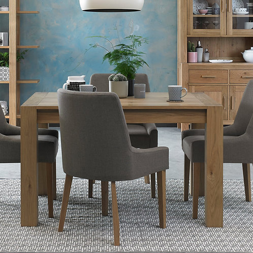 Turin Light Oak Small End Extending Dining Table