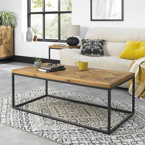 Indus Rustic Oak Coffee Table