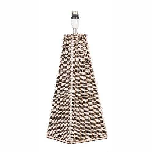 Rattan Pyramid Table Lamp pacific lifestyle sand cornwall
