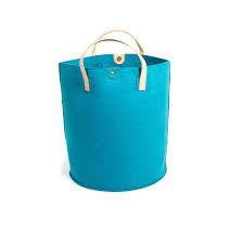 Teal Felt Storage Basket/Bag