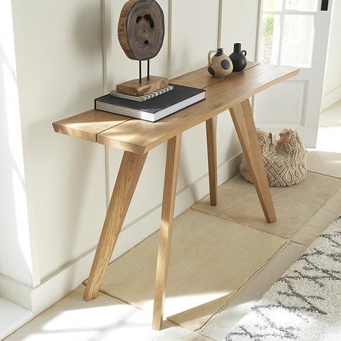 Cadell Rustic Oak Console Table