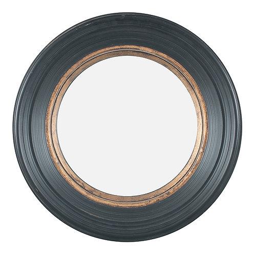 Black & Gold Polyresin Round Convex Mirror Large