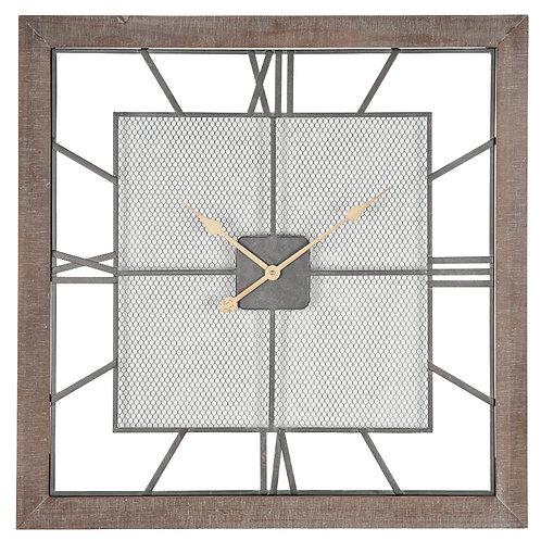 Natural Wood Square Wall Clock
