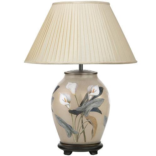 Arum Lilly Medium Oval Glass Medium Table Lamp