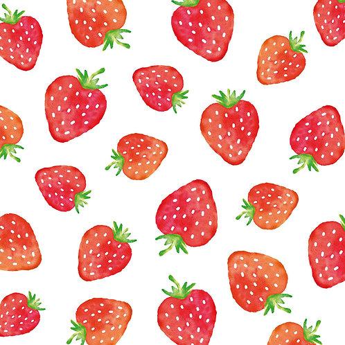 Strawberries lunch napkins 33x33 cm
