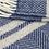 Thumbnail: Navy & Silver Grey Fishbone 2 Stripe Pure New Wool Sand Blanket