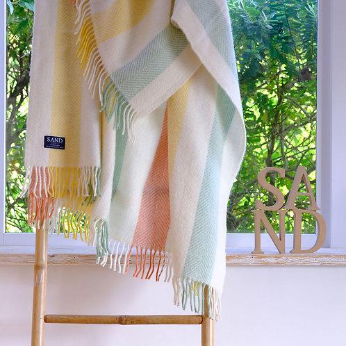 Summer Stripe Pure New Wool Blanket