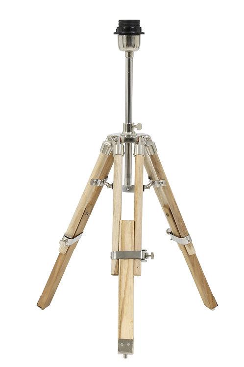 MATISSE Wood Natural Tripod Table Lamp