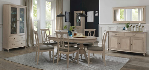 Bordeaux Chalk Oak 6-8 Dining Table