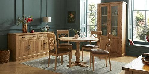 Westbury Rustic Oak Circular Table