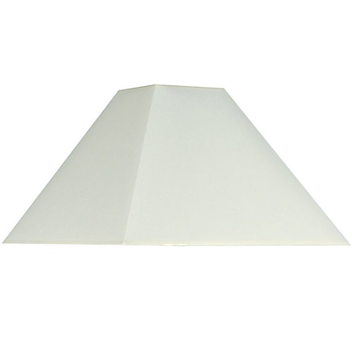 35cm Cream Cotton Tapered Square Shade sand cornwall