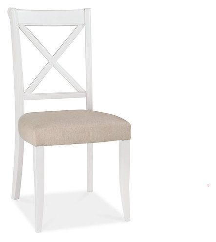 Hampstead Two Tone X Back Sand Fabric Dining Chair (Pair)