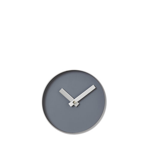 Small Wall clock steel gray - ashes of roses,RIM
