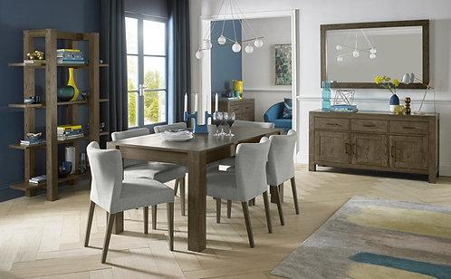 Turin Dark Oak Medium End Extension Table
