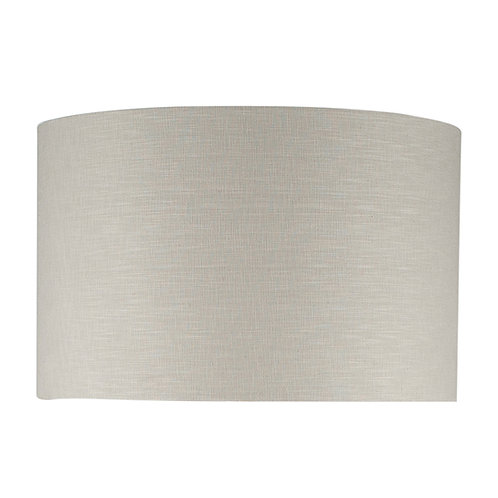 40cm Grey Self Lined Linen Drum Shade