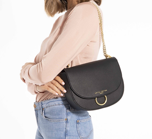 Katie Loxton Lucia Saddle Bag Black