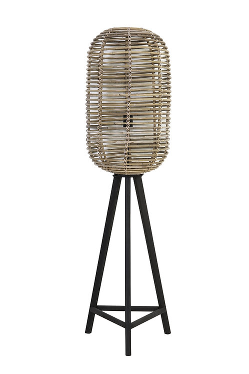 Tabana Grey Rattan Lamp Base