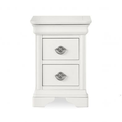 Chantilly White 2 Drawer Bedside Table