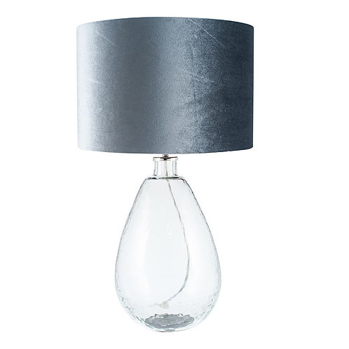 Organic Shape Tall Clear Glass Table Lamp