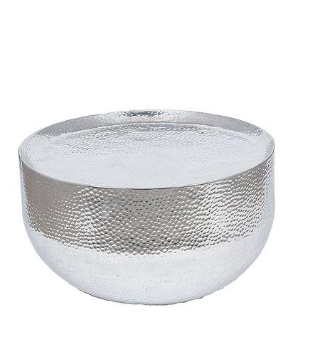 Hammered & Polished Aluminium Round Table Large sand cornwall