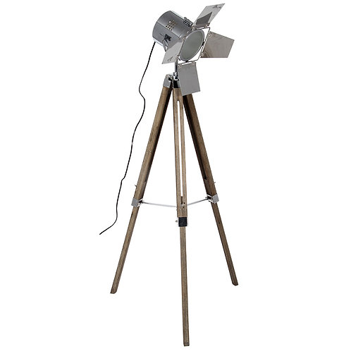 Wood Base and Chrome Head Film Light
