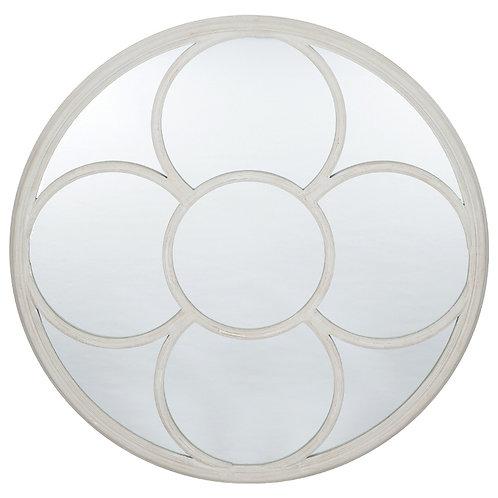 House Grey Polyresin Round Wall Mirror