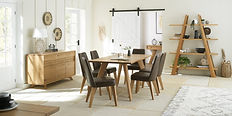 cadell rustic oak upholstered chair rust