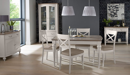 Montreux Grey Washed Oak & Soft Grey 4-6 Extension Table