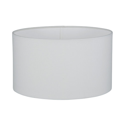 35cm White Handloom Cylinder Shade
