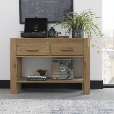 Turin Light Oak Console Table