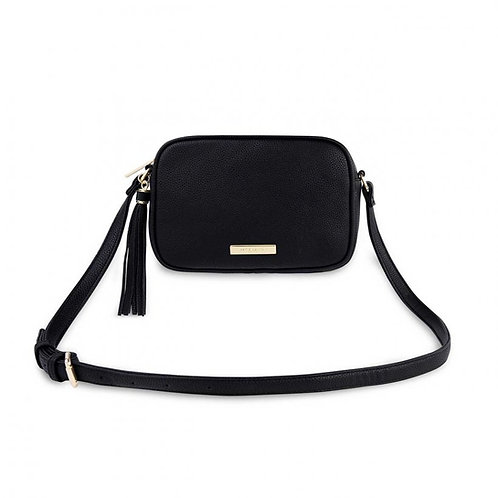 BLACK SOPHIA TASSEL CROSSBODY BAG