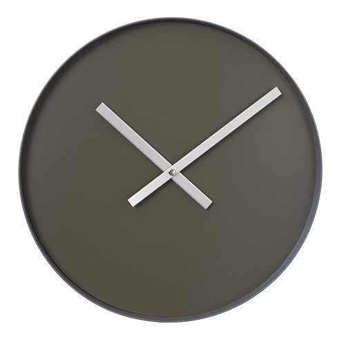 Wall clock tarmac - steel gray, large RIM