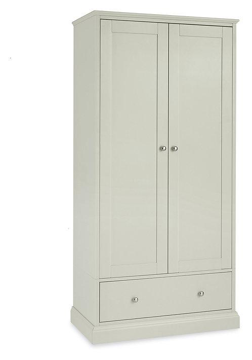 Ashby Soft Grey 2 Door Double Wardrobe