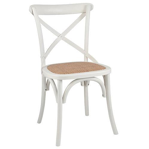 Vintage Sand Elm Wood & Rattan Dining Chair