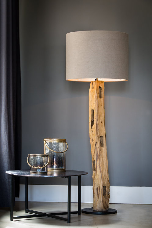 KARLOVO Wood Floor Lamp