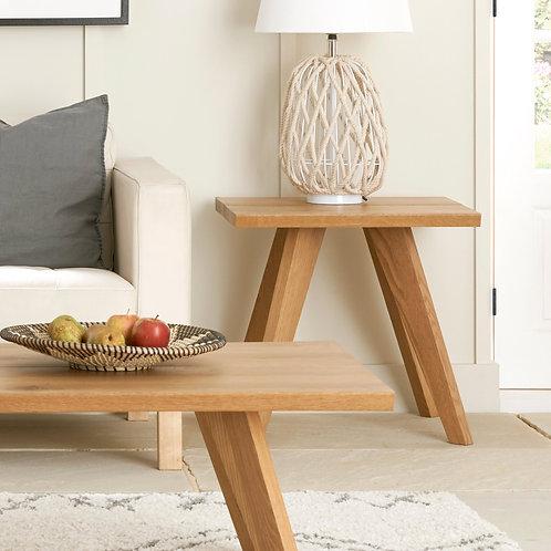Cadell Rustic Oak Lamp Table