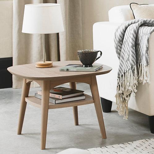 Dansk Scandi Oak Lamp Table With Shelf
