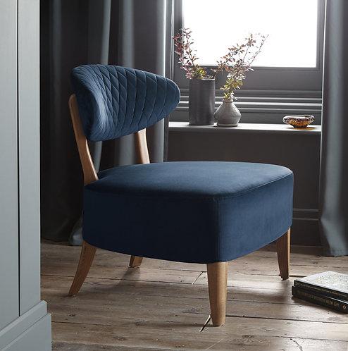 Dark Blue Fabric Margot Casual Chair