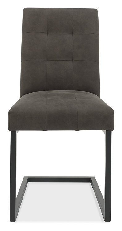 Indus Upholstered Cantilever Chair - Dark Grey Fabric (Pair)