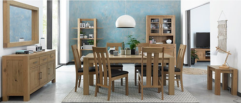 Turin Light Oak Large end Extending Dining Table