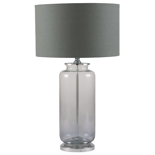 VIVIENNE Grey Ombre Glass Table Lamp