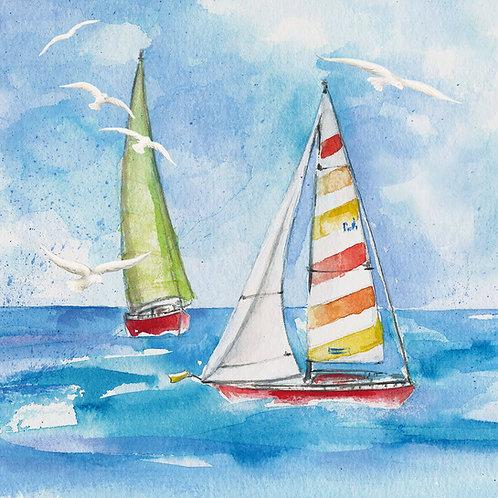 Sailing lunch napkins 33x33 cm